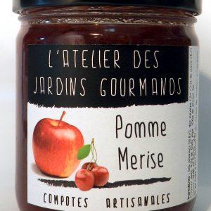 compote pomme merise l'atelier des jardins Gourmands