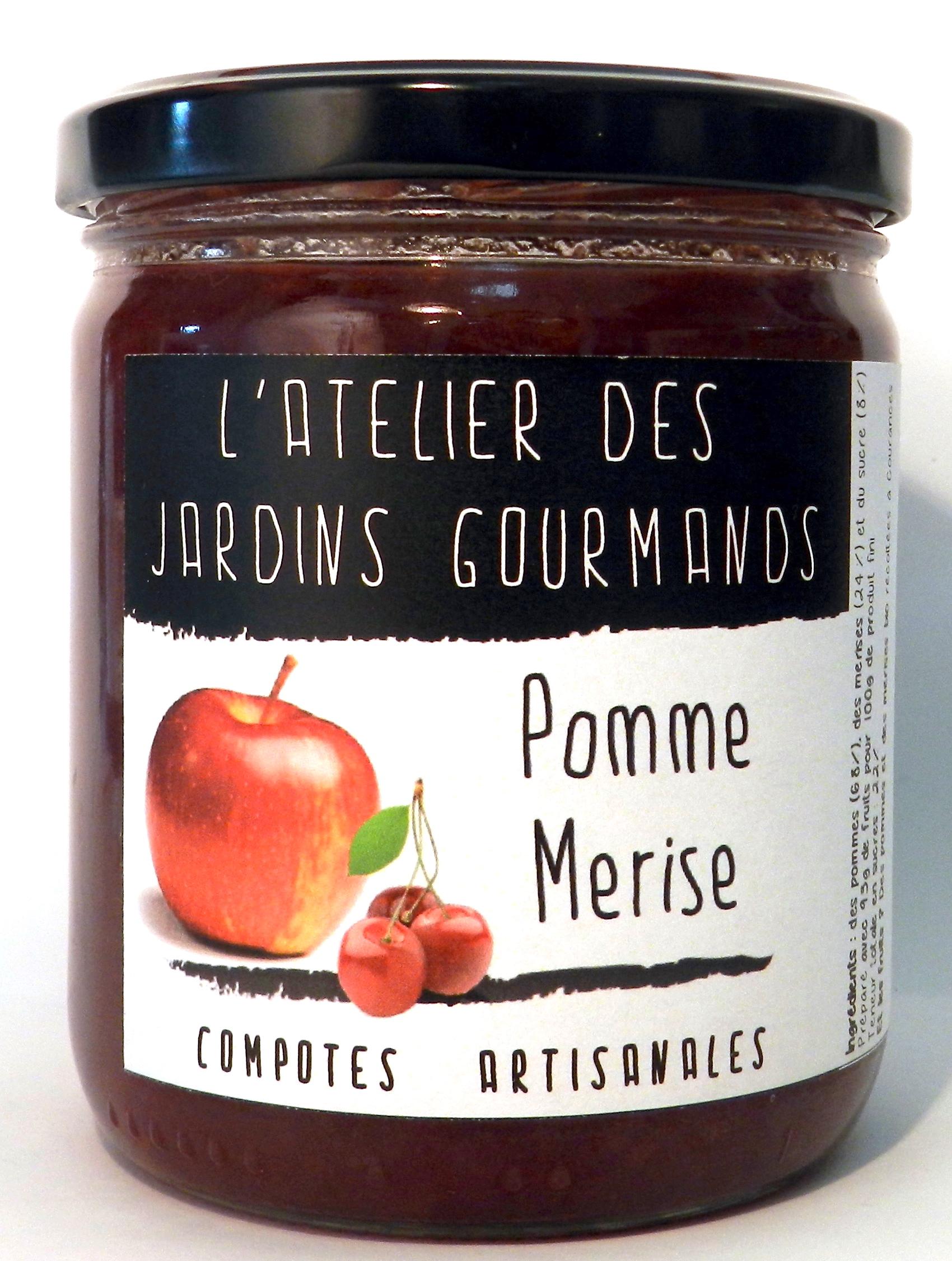 compote pomme merise atelier des jardins gourmands