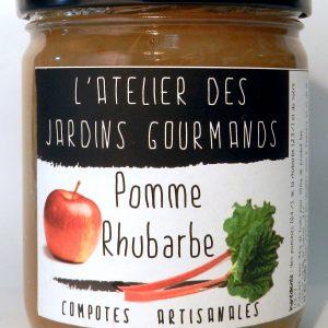 compote pomme rhubarbe l'atelier des jardins gourmands