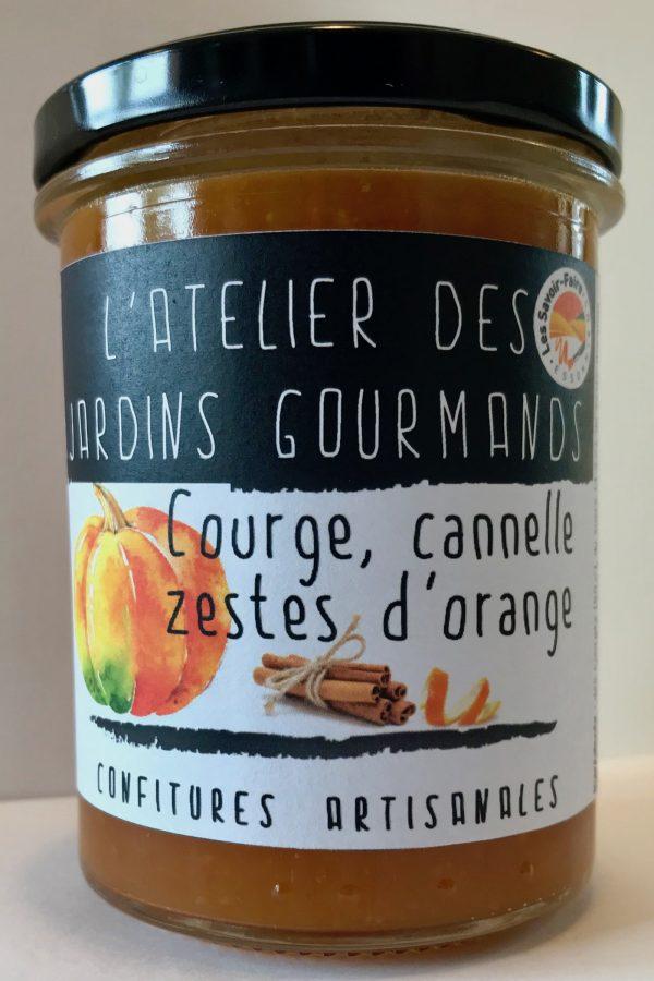 Courge cannelle zeste d'orange atelier des jardins gourmands