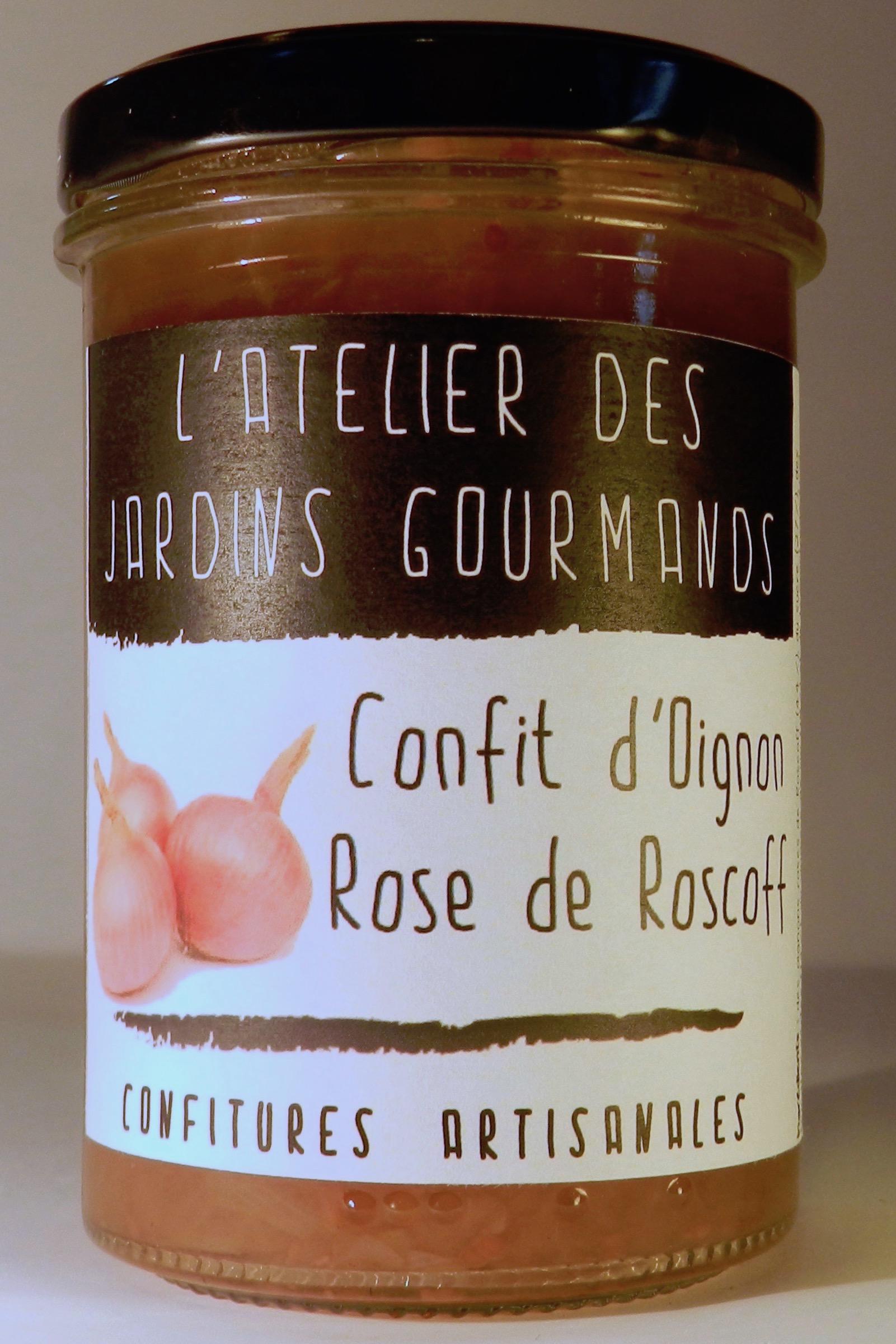 confit oignon rose roscoff l'Atelier des Jardins Gourmands