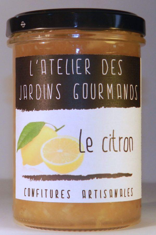 confiture citron l'Atelier des Jardins Gourmands