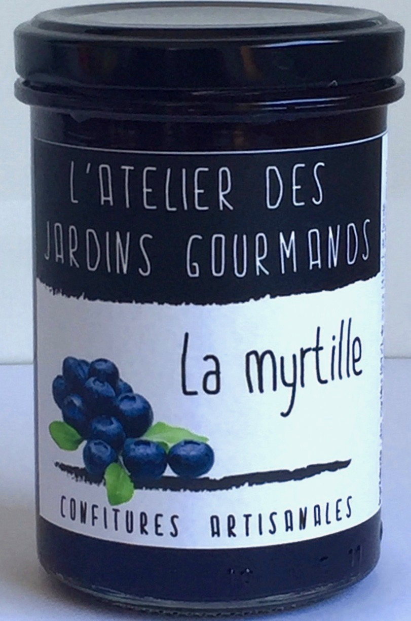 confiture de myrtille atelier des jardins gourmands