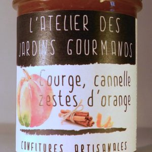 confiture courge_cannelle_zestz d'orange l'Atelier des Jardins Gourmands
