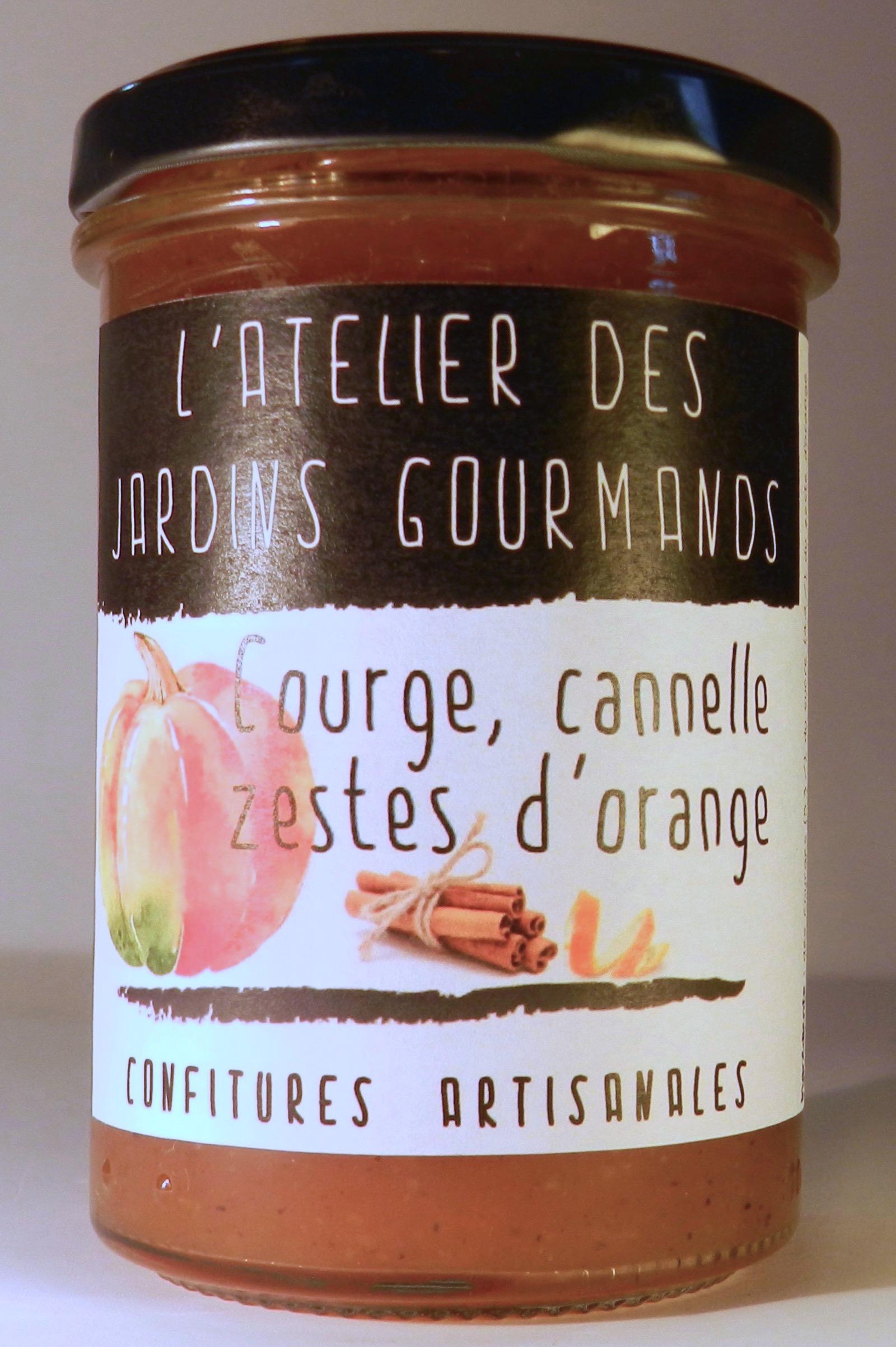 confiture courge_cannelle_zestz d'orange l'Atelier des Jardins Gourmands