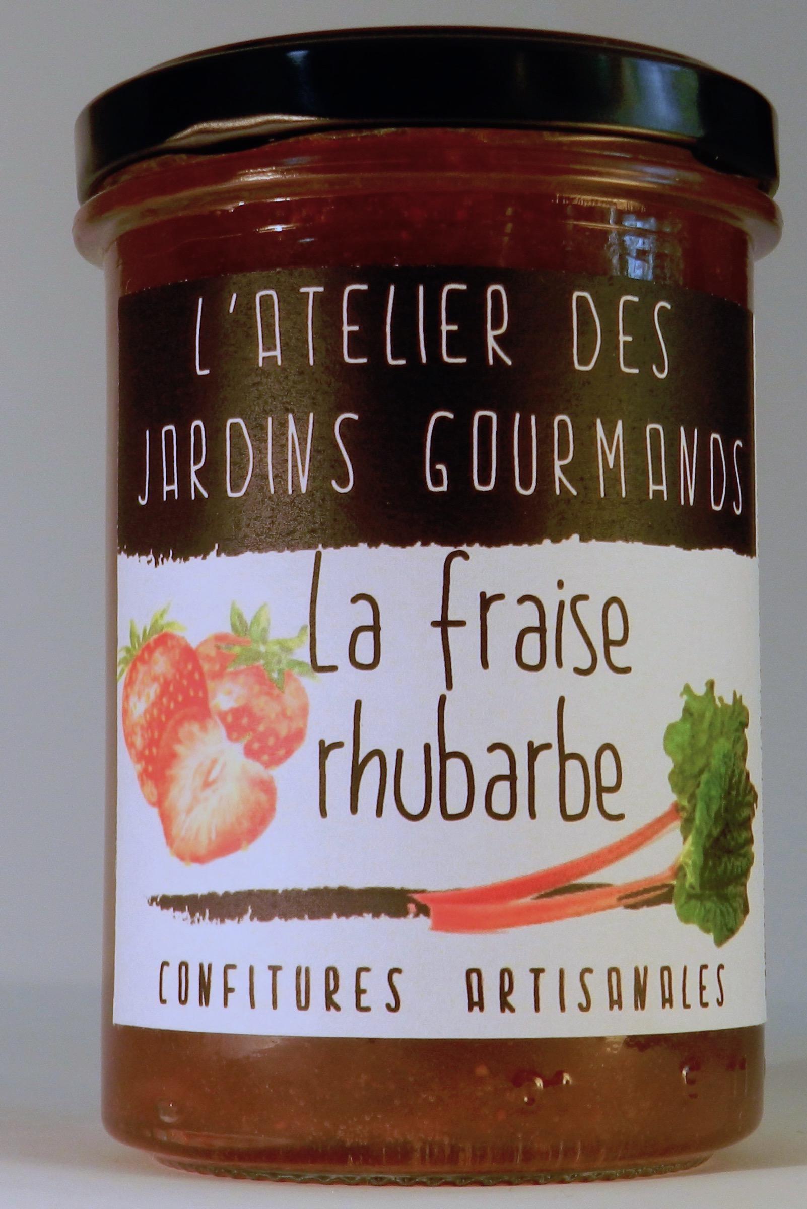 rhubarbe fraise l'Atelier des Jardins Gourmands