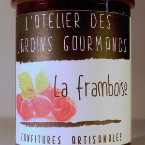 confiture framboise l'Atelier des Jardins Gourmands