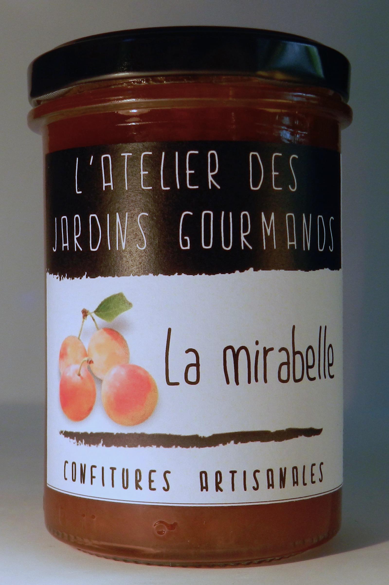 confiture mirabelle l'Atelier des Jardins Gourmands