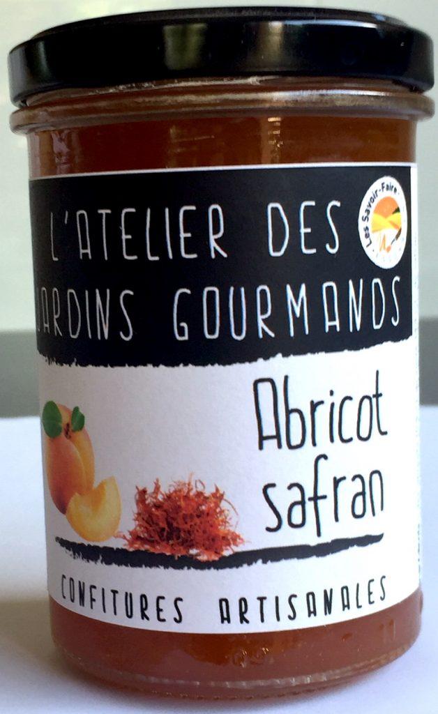 Confiture d'abricot au safran l'Atelier des Jardins Gouramnds