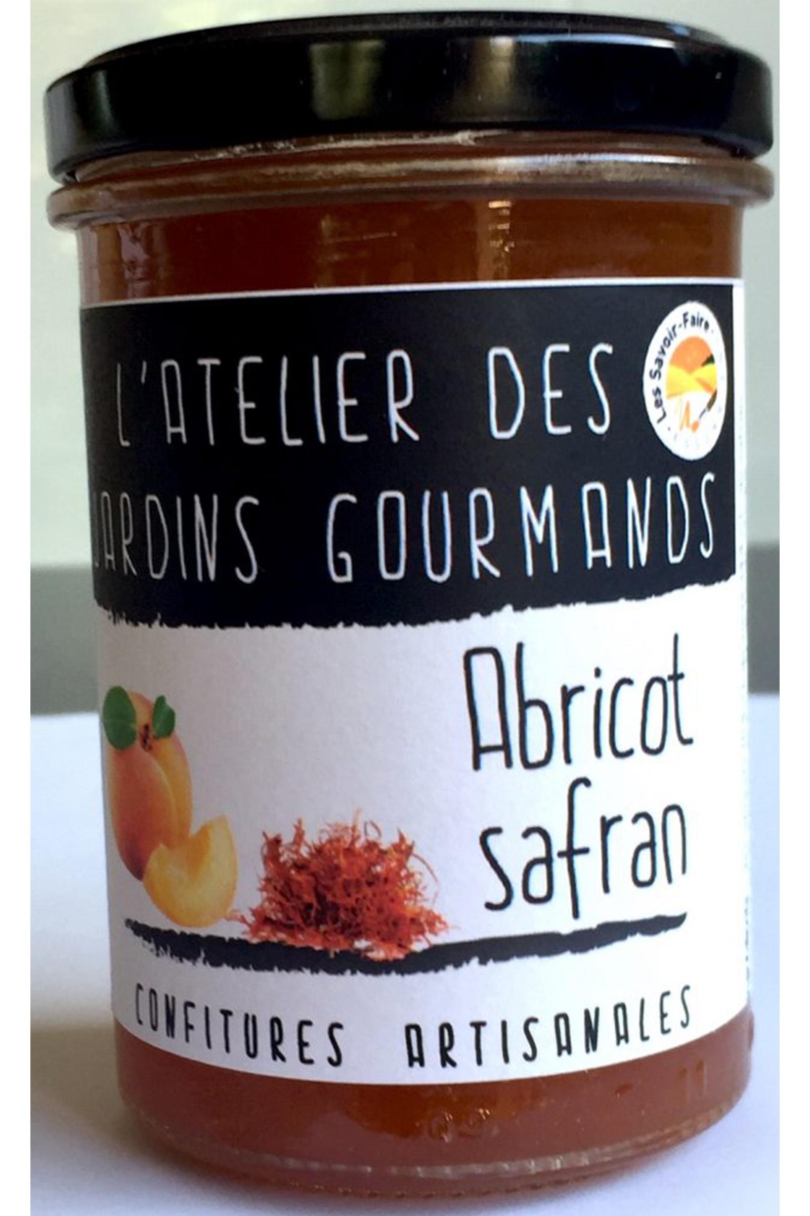 confiture abricot safran atelier des jardins gourmands