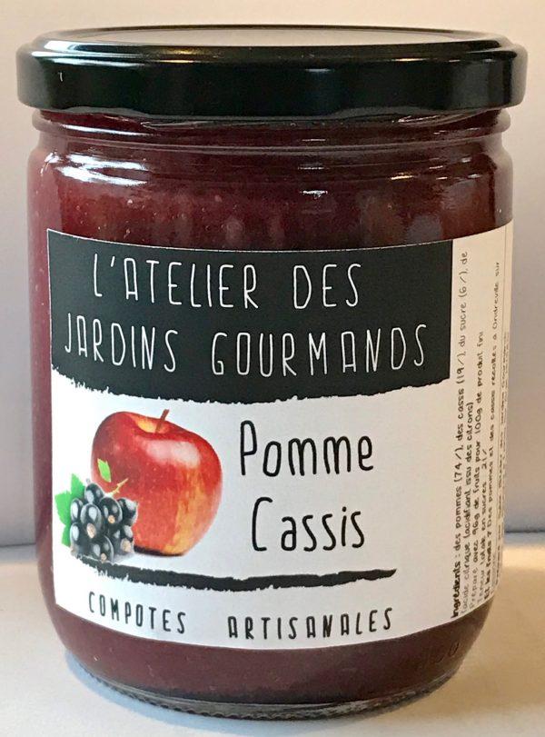 Compote-pomme-cassis atelier des jardins gourmands